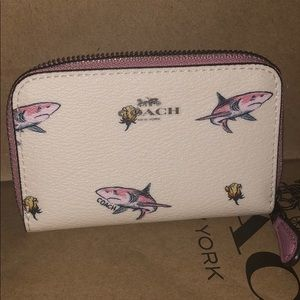 100% Authentic Coach Shark Card Holder